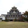 マスキングテープで巻かれた岡山城(烏城)を見てきました
