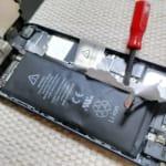 iPhone5を分解して膨張したバッテリーを新品バッテリーに交換しました!
