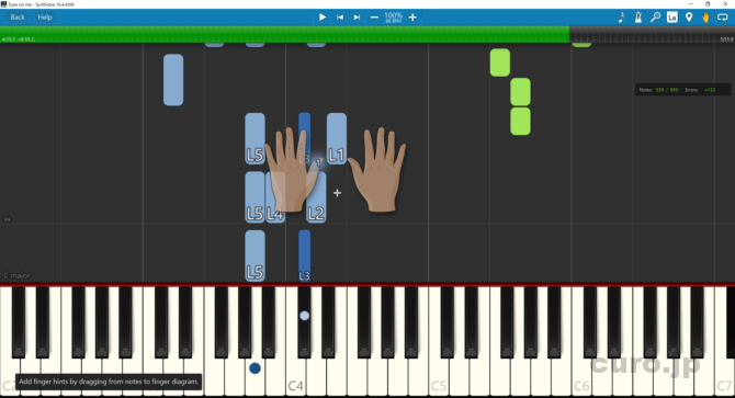 Synthesia-Fingering