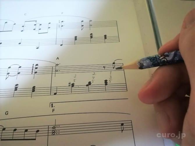 score-fingering